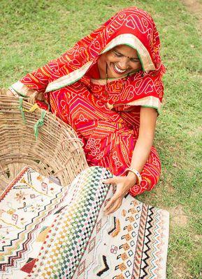 artisan originals ivory wool hand knotted Rug