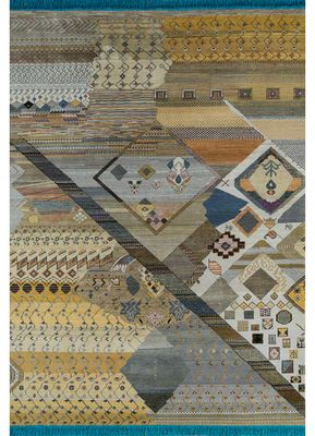 artisan originals gold wool and bamboo silk hand knotted Rug