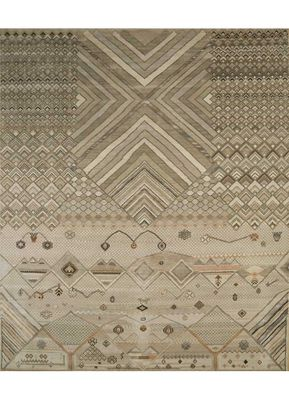 artisan originals ivory wool and bamboo silk hand knotted Rug