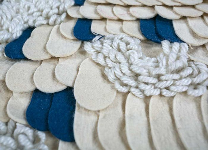 aprezo ivory wool flat weaves Rug - CloseUp