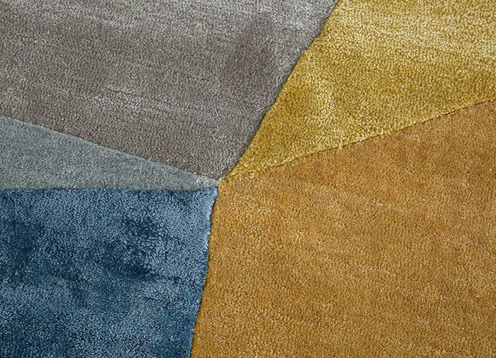 come around beige and brown wool and viscose hand tufted Rug - CloseUp