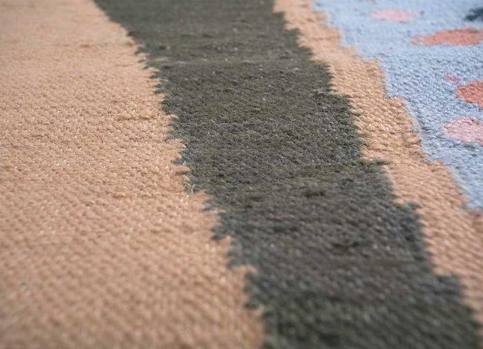 aprezo pink and purple wool flat weaves Rug - CloseUp