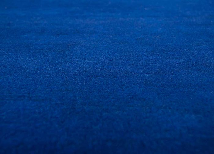 alfreda blue wool hand knotted Rug - CloseUp