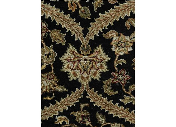 atlantis grey and black wool hand knotted Rug - CloseUp