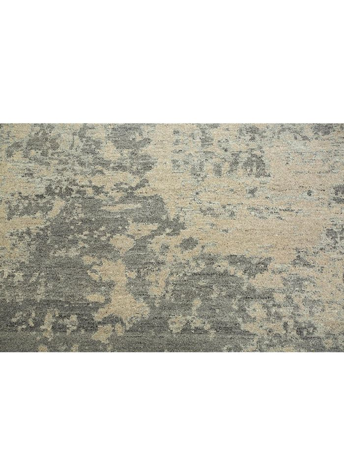 project error by kavi beige and brown wool hand knotted Rug - CloseUp