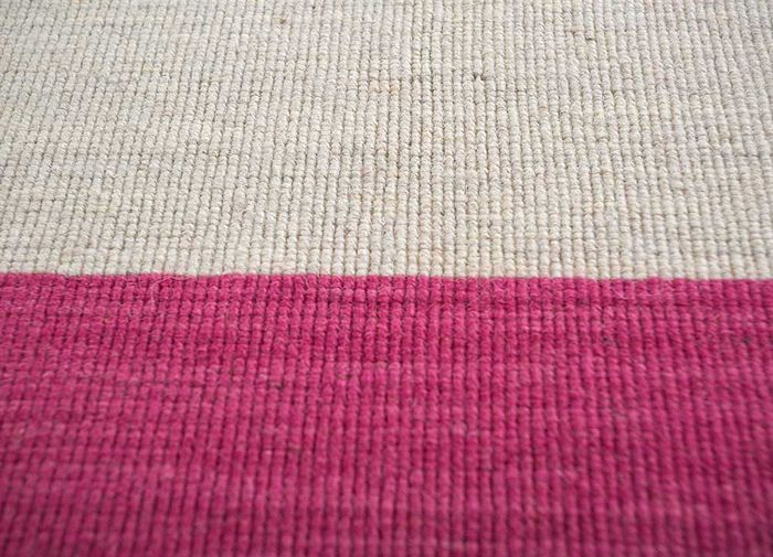 aqua pink and purple wool flat weaves Rug - CloseUp