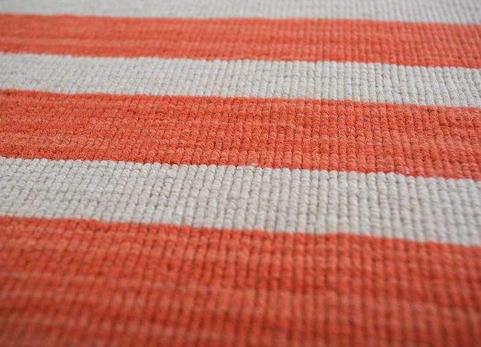 aqua red and orange wool flat weaves Rug - CloseUp