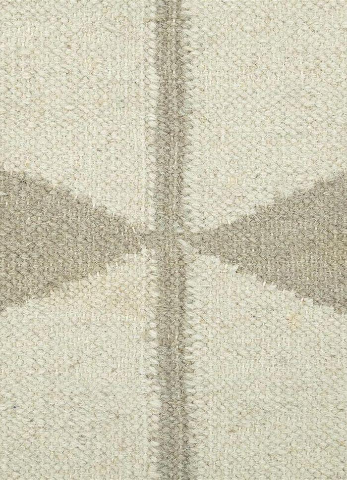 en casa by luli sanchez ivory wool flat weaves Rug - CloseUp