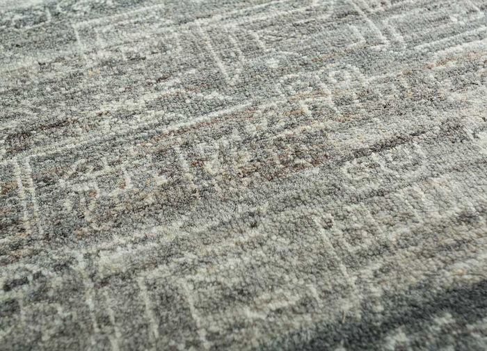 viscaya beige and brown wool hand knotted Rug - CloseUp