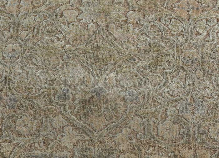 viscaya ivory wool and silk hand knotted Rug - CloseUp