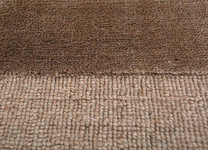 aprezo beige and brown jute and hemp hand loom Rug - CloseUp