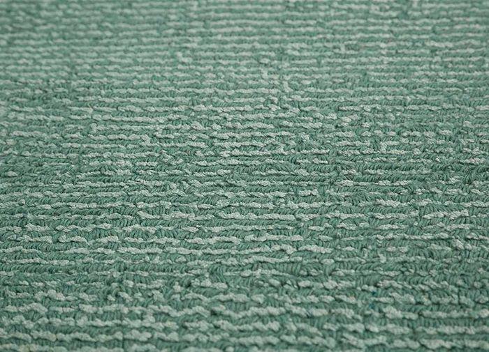 konstrukt blue wool and viscose hand loom Rug - CloseUp