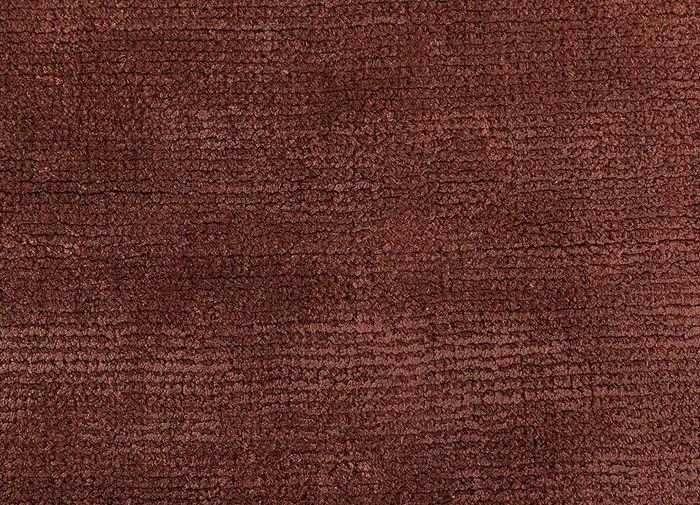 konstrukt red and orange wool and viscose hand loom Rug - CloseUp