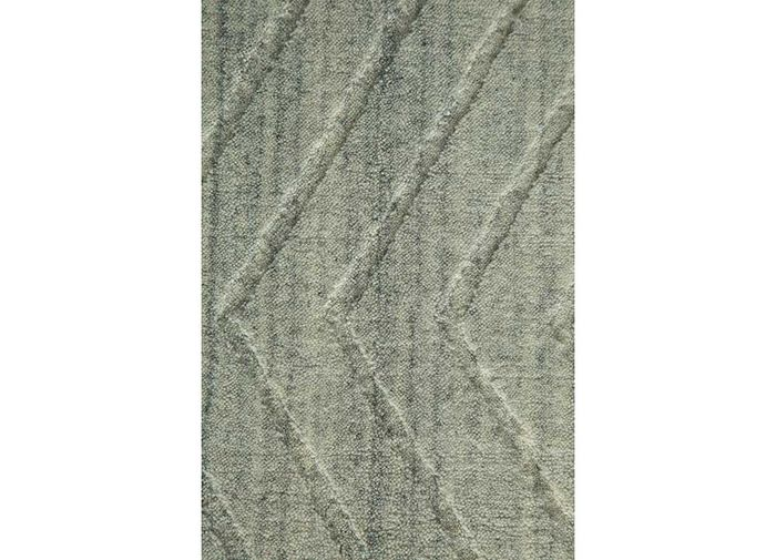 graze grey and black bamboo silk hand loom Rug - CloseUp
