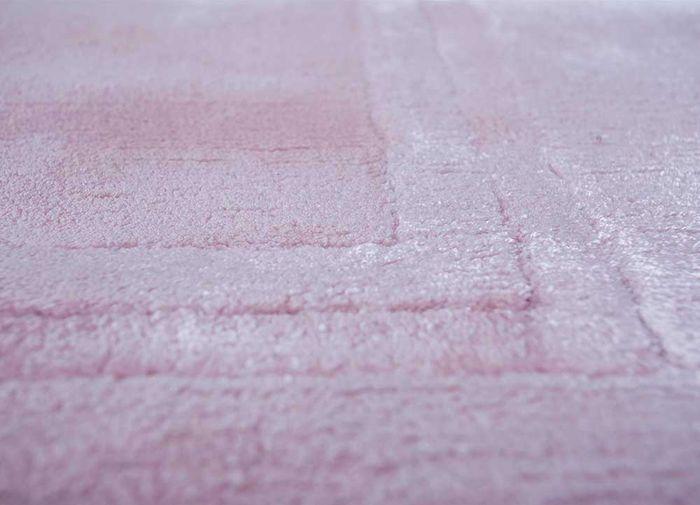 yasmin pink and purple viscose hand loom Rug - CloseUp