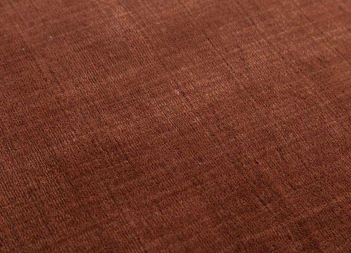 aprezo red and orange wool hand loom Rug - CloseUp