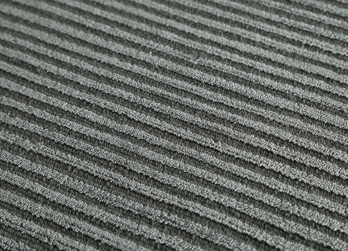 basis grey and black wool and viscose hand loom Rug - CloseUp