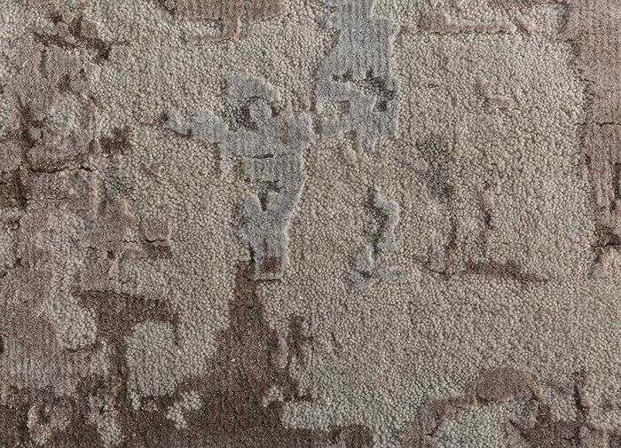 tattvam ivory wool and bamboo silk hand knotted Rug - CloseUp