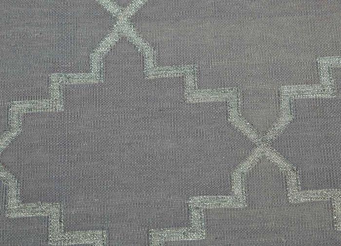 indusbar pink and purple cotton flat weaves Rug - CloseUp