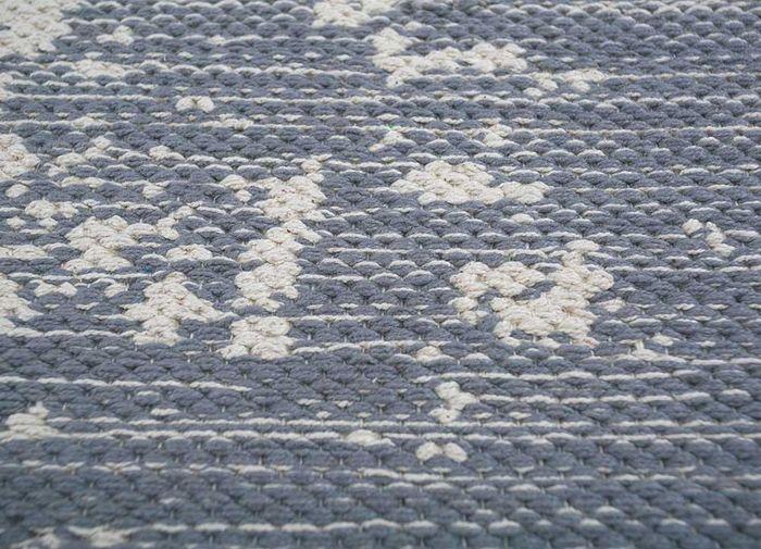 bedouin blue cotton flat weaves Rug - CloseUp