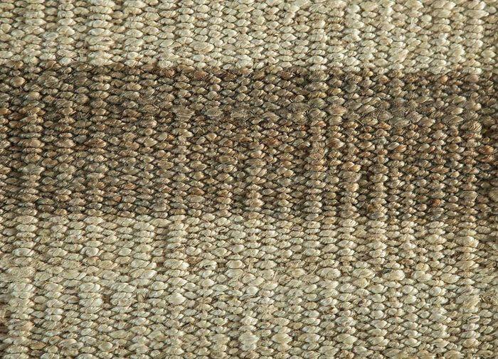 aqua ivory jute and hemp flat weaves Rug - CloseUp