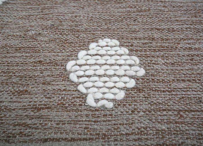 anatolia grey and black cotton flat weaves Rug - CloseUp