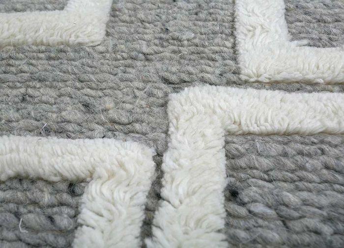 aprezo blue wool flat weaves Rug - CloseUp