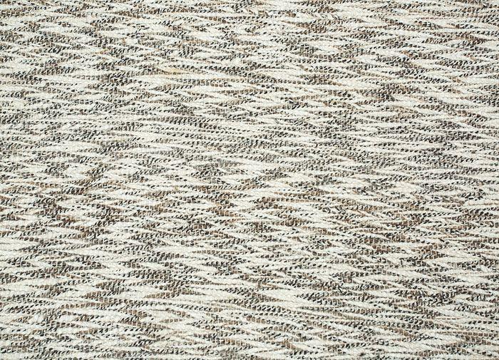abrash ivory wool and viscose flat weaves Rug - CloseUp