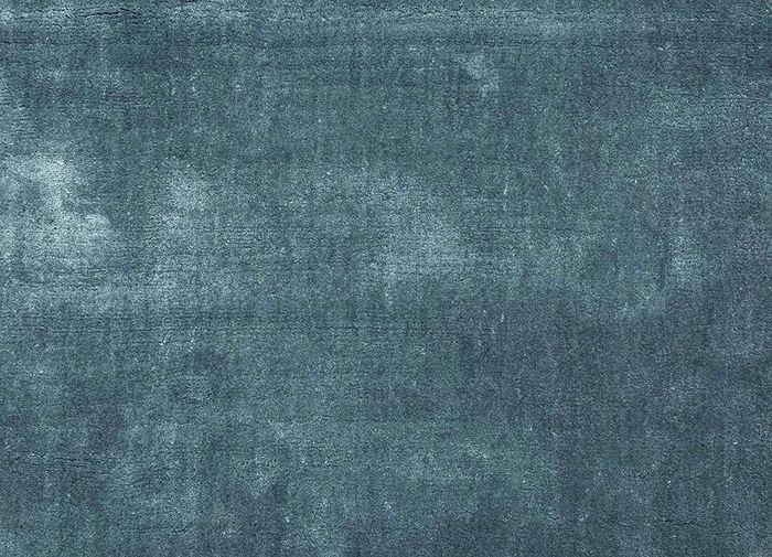 yasmin blue viscose hand loom Rug - CloseUp