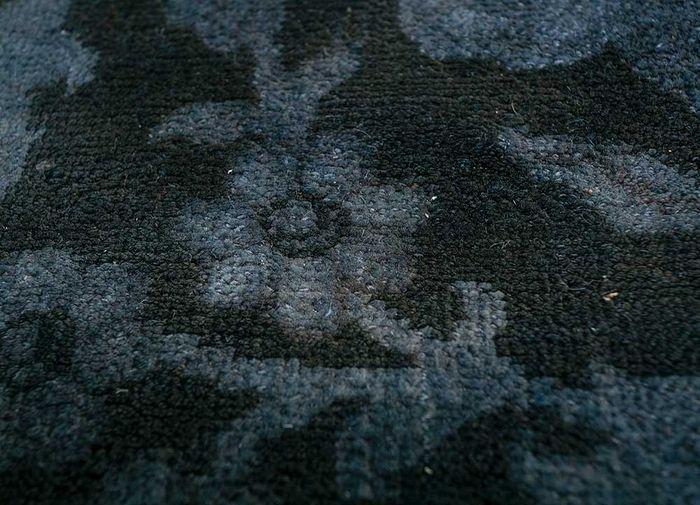 aprezo blue wool patchwork Rug - CloseUp