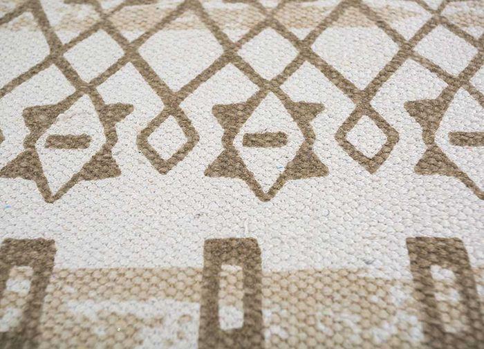 bedouin ivory cotton flat weaves Rug - CloseUp