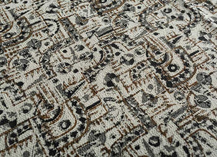indusbar ivory cotton flat weaves Rug - CloseUp