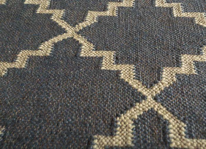 indusbar blue jute and hemp flat weaves Rug - CloseUp