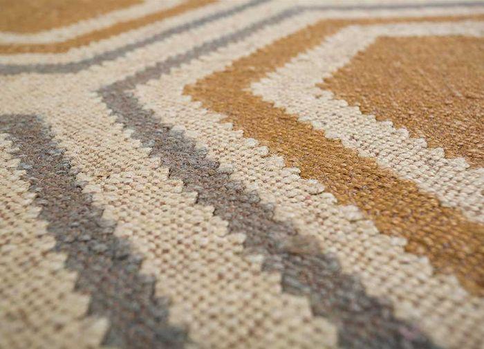 anatolia gold jute and hemp flat weaves Rug - CloseUp