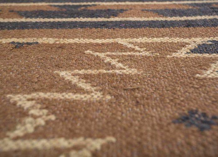 bedouin beige and brown jute and hemp flat weaves Rug - CloseUp