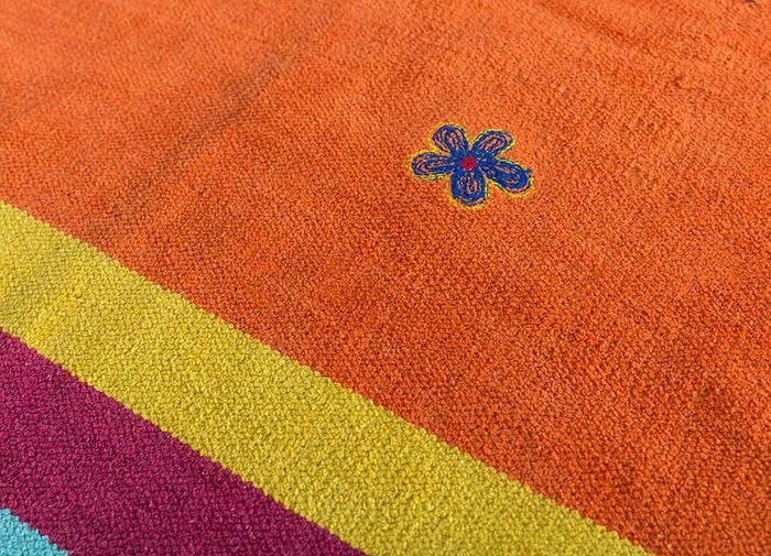 bedouin red and orange others flat weaves Rug - CloseUp