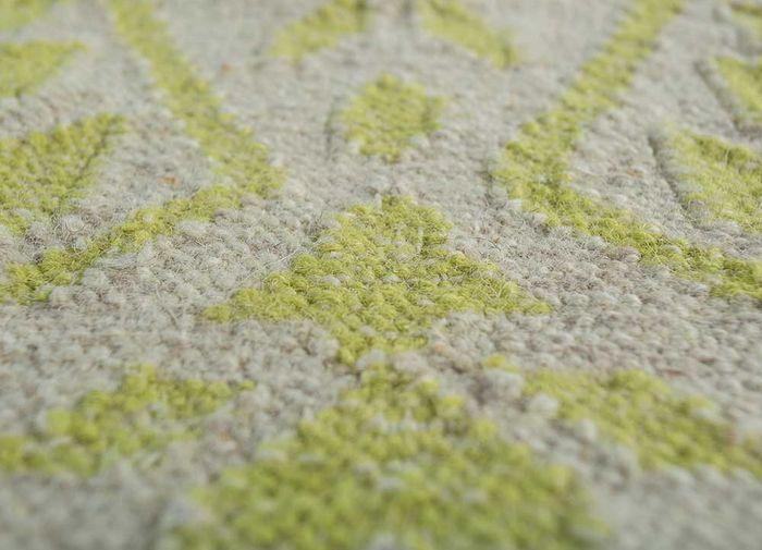 bedouin ivory wool flat weaves Rug - CloseUp