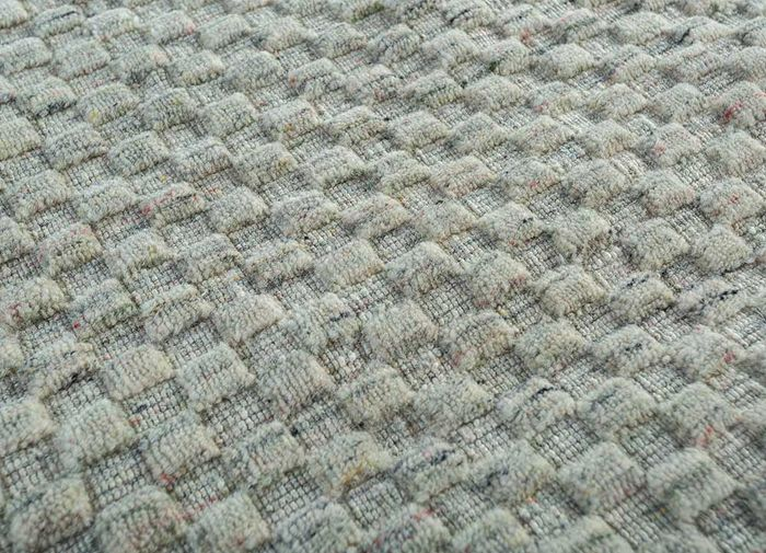abrash beige and brown wool flat weaves Rug - CloseUp