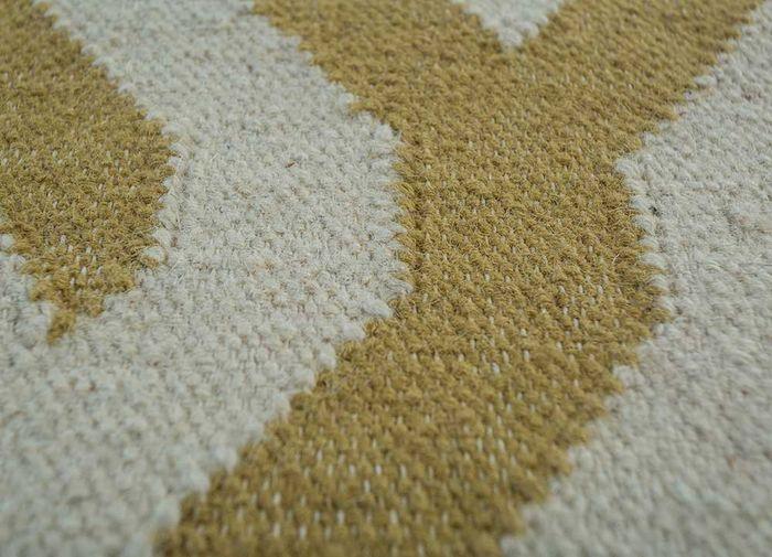 anatolia red and orange wool flat weaves Rug - CloseUp