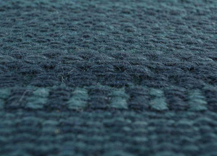 aqua green wool flat weaves Rug - CloseUp