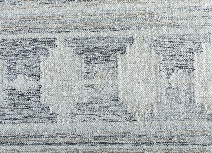 souk ivory wool and viscose flat weaves Rug - CloseUp
