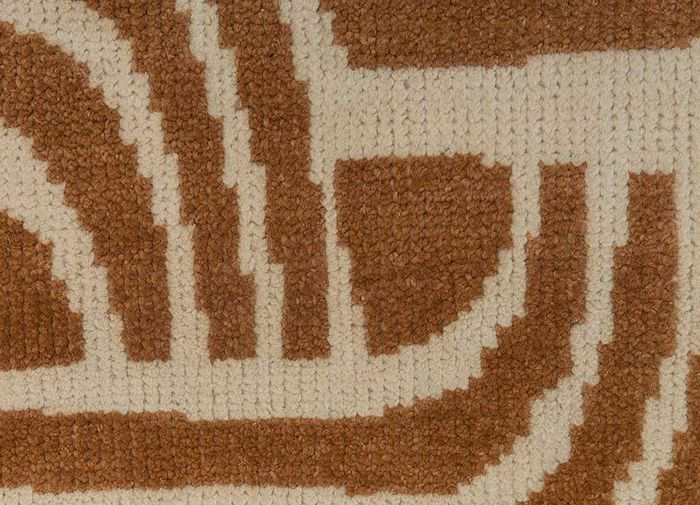 geode ivory wool hand knotted Rug - CloseUp