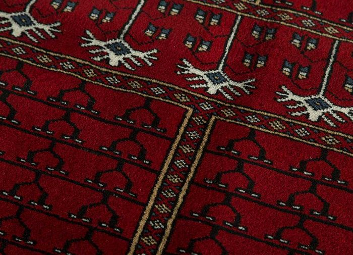kiaan red and orange wool hand knotted Rug - CloseUp
