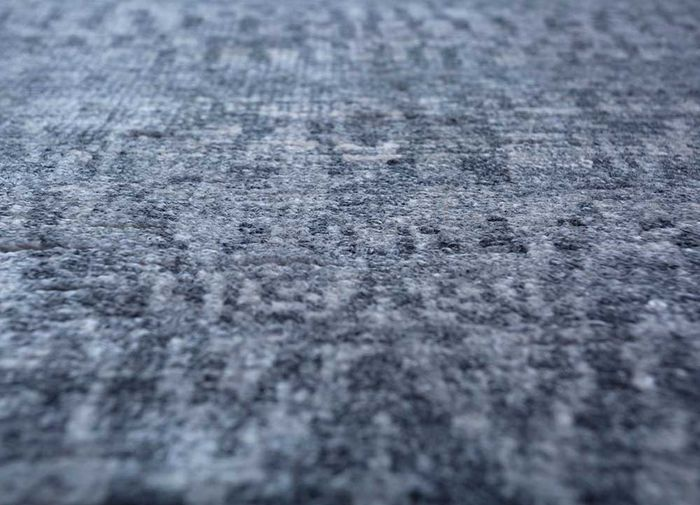 entropy blue wool and viscose hand knotted Rug - CloseUp