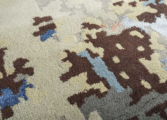 transcend ivory wool and viscose hand tufted Rug - CloseUp