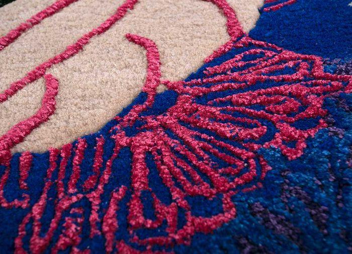 jaipur wunderkammer ivory wool and viscose hand tufted Rug - CloseUp