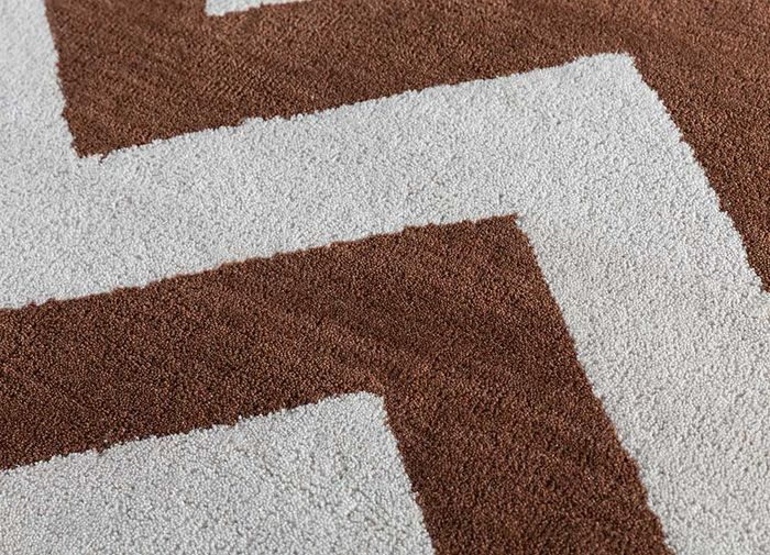 contour red and orange wool hand tufted Rug - CloseUp
