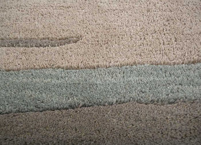 transcend beige and brown wool hand tufted Rug - CloseUp