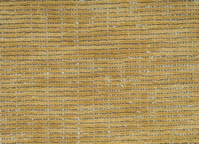 eron gold wool hand loom Rug - CloseUp