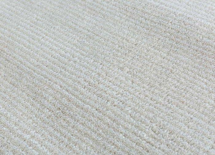 konstrukt ivory wool and viscose hand loom Rug - CloseUp